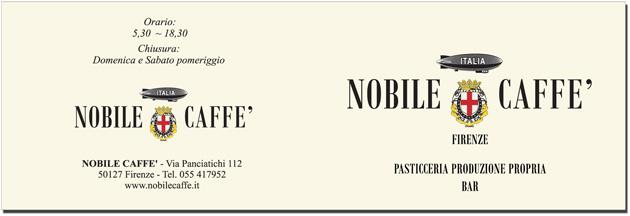 caffe nobile firenze logo studio grafico marchio biglietto visita