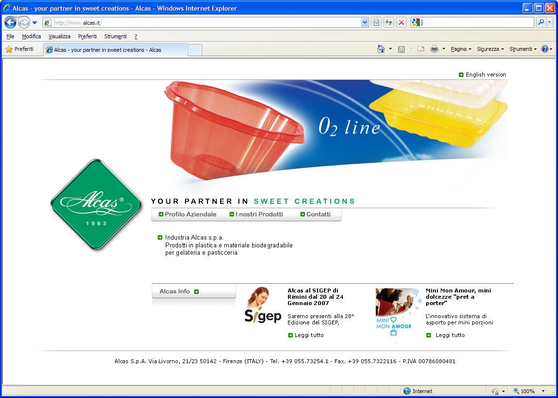 Website Alcas studio grafico webdesigner firenze