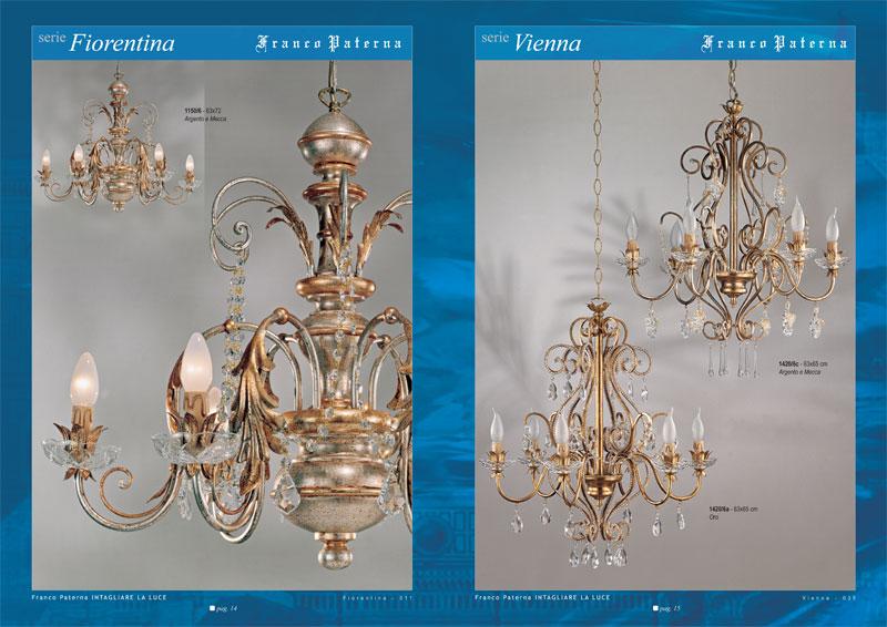 catalogo aziendale depliant grafico lampadari Paterna