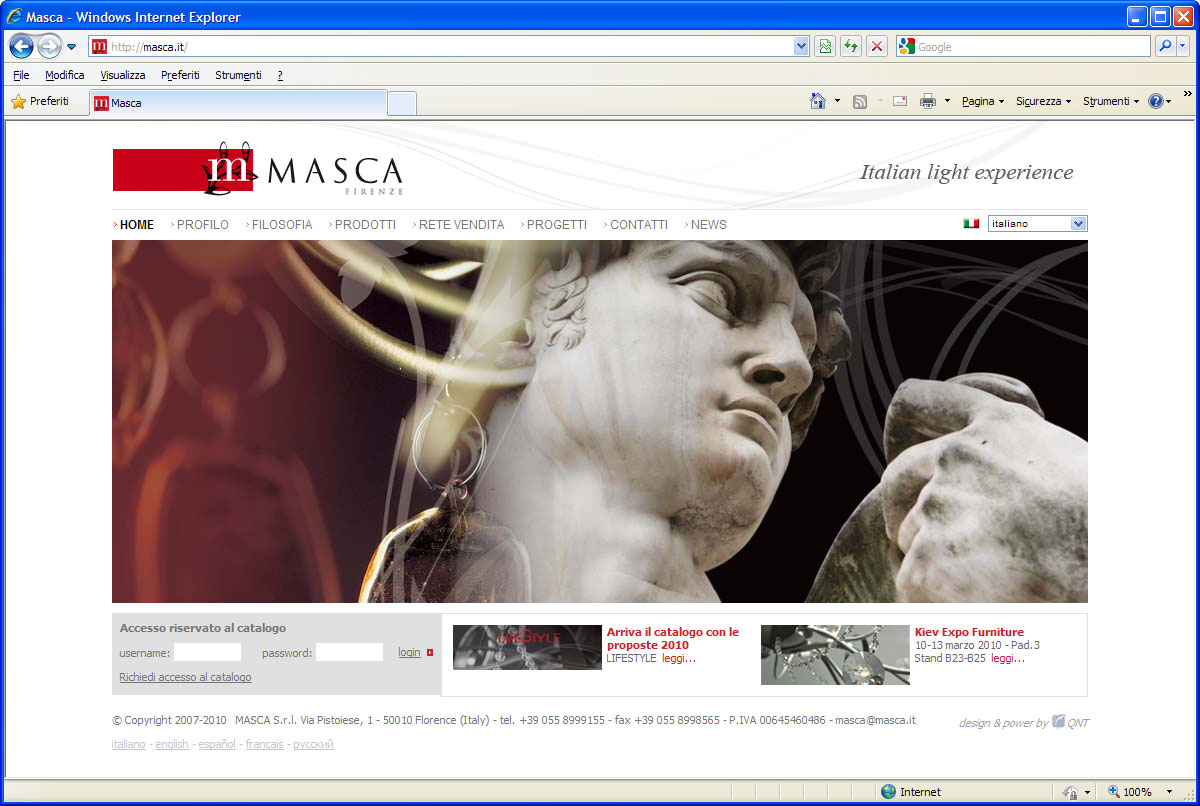 masca restuling logo lampadari firenze studio grafico