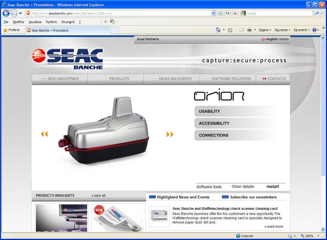 web application orion seac banche studio grafico firenze