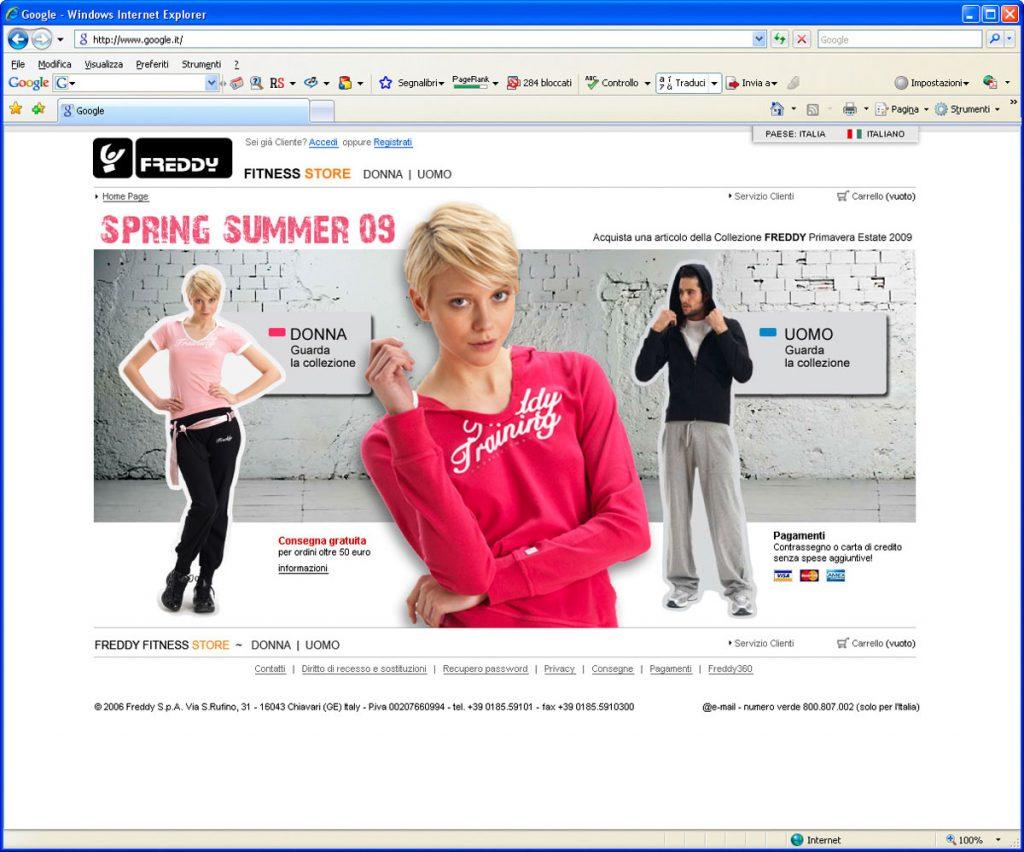 store online shop website abbigliamento freddy studio grafico firenze